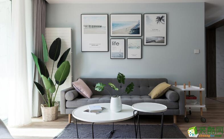 南宁两室一厅一卫装修―喜来登装饰75平北欧风格装修效果图
