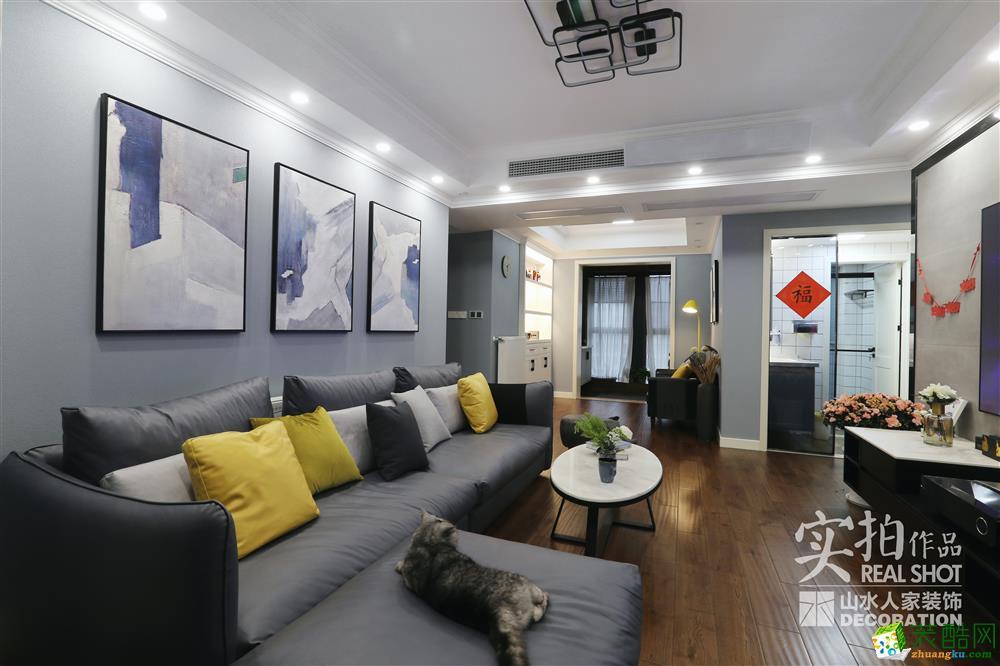 月湖琴声160平四室两厅现代风格装修设计效果图