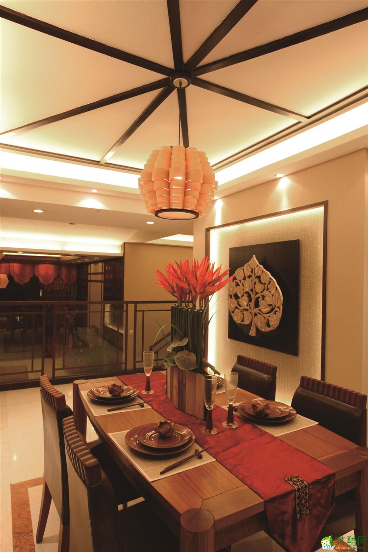 亿号装饰-世茂滨江府东南亚风格168平装修案例效果图
