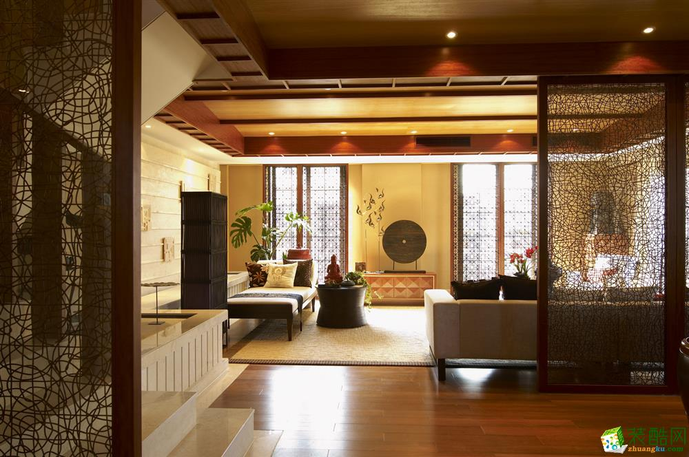 甬都装饰-东隆沁园东南亚风格165平装修案例效果图