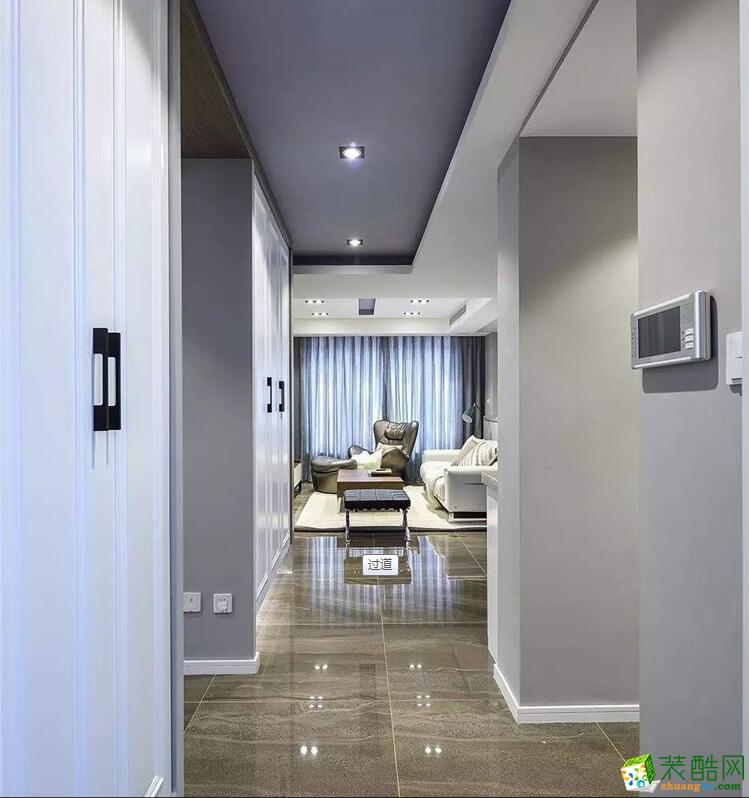 郑州两室一厅一卫装修―宜之家装饰83平现代简约风格装修效果图