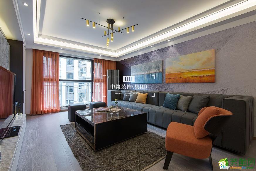 【中策装饰】银海泊岸 -116㎡现代简约风格装修_现代风格-三室两厅两卫