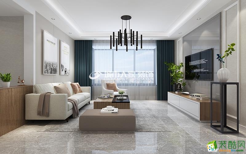 恒大御景湾149平后现代风格装修恰到好处的家装搭配让人心动!