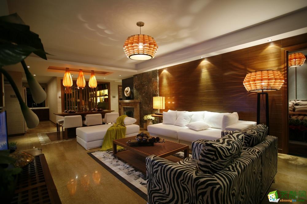 佰筑装饰-泰悦首府东南亚风格158平装修案例效果图