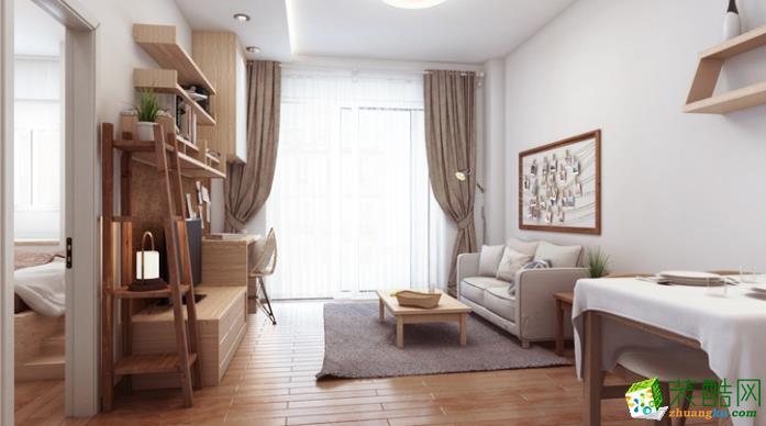 济南万泰装饰-80平米简约两居室装修案例
