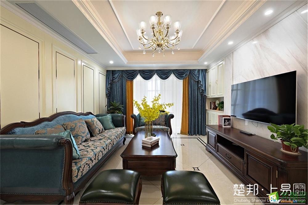 越秀星汇尚城108方简美风格三室两厅两卫装修作品