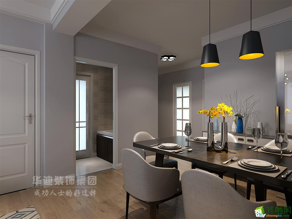 幸福人家85�O两室一厅一卫简约风格设计作品