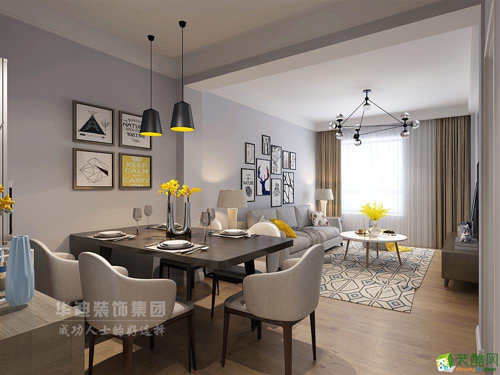 华迪装饰80平两室一厅一卫简约风格装修效果图
