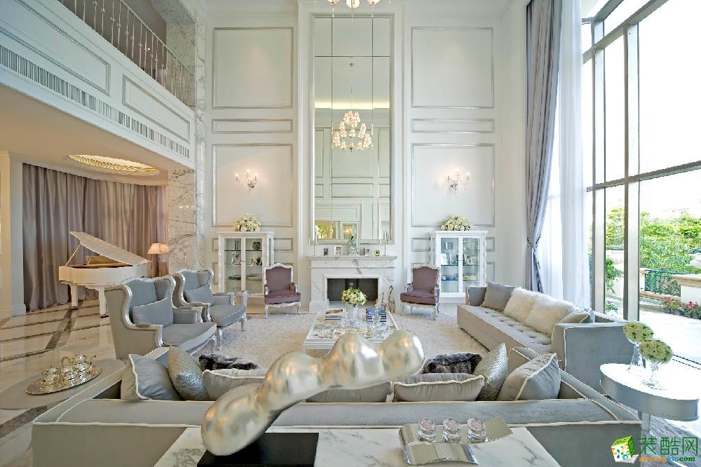 新城东方丽园100�O三室一厅一卫欧式风格装修设计效果图