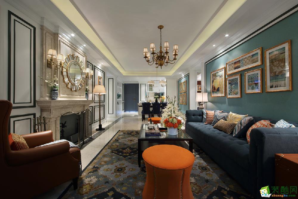 太湖汇景100�O三室一厅一卫欧式风格装修设计效果图