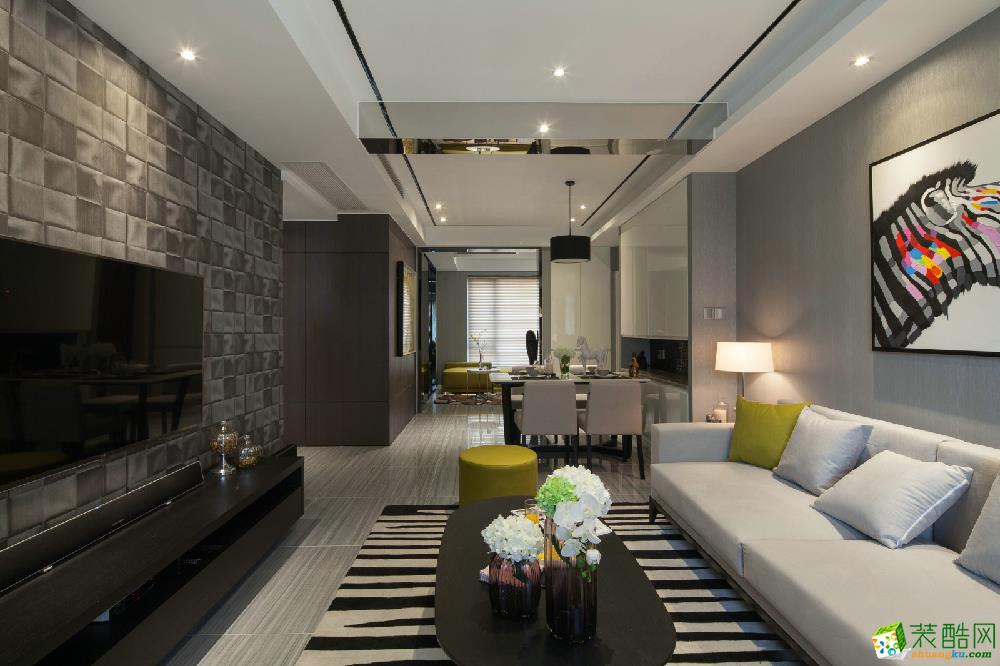 苏苑新村三室一厅一卫现代风格装修设计效果图