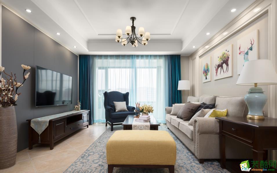 天地亿家-110�O三室美式风格