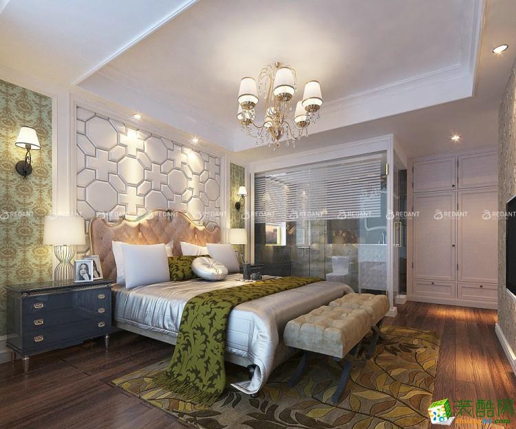 苏中尚城180�O四室两厅美式风格装修设计效果图