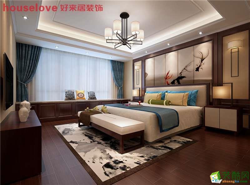 怡园锦居166方新中式风格复式装修设计效果图