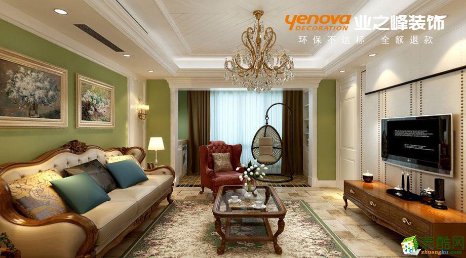 尚海湾112�O三室两厅一卫美式风格装修设计效果图