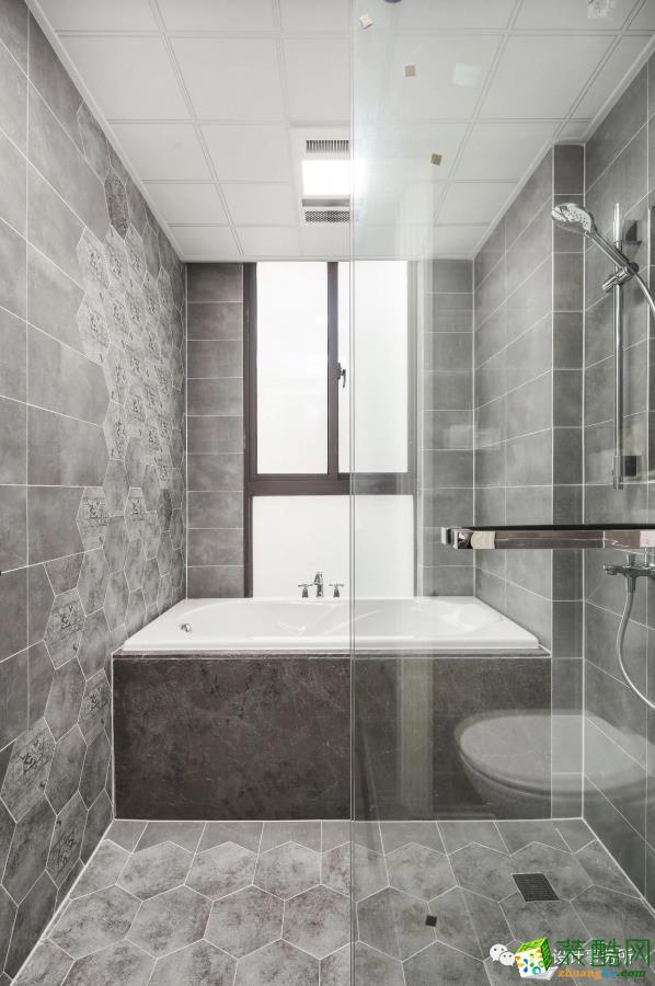 花半里172�O美式风格四室两厅两卫装修设计效果图