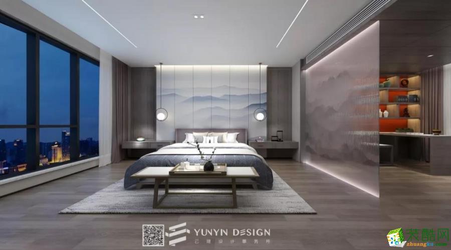 九间堂330�O新中式风格别墅装修设计效果图