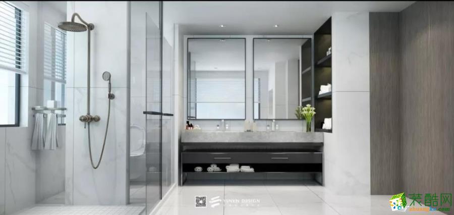 江城逸品320�O现代简约风格别墅装修设计效果图