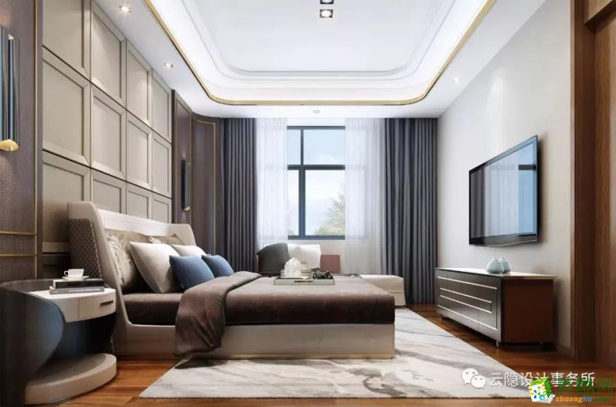 九里香堤 460�O现代简约风格别墅装修设计效果图