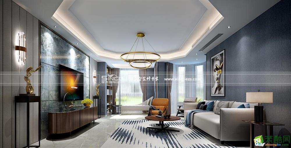 海门复华文苑400平简约风格联排别墅装修设计效果图