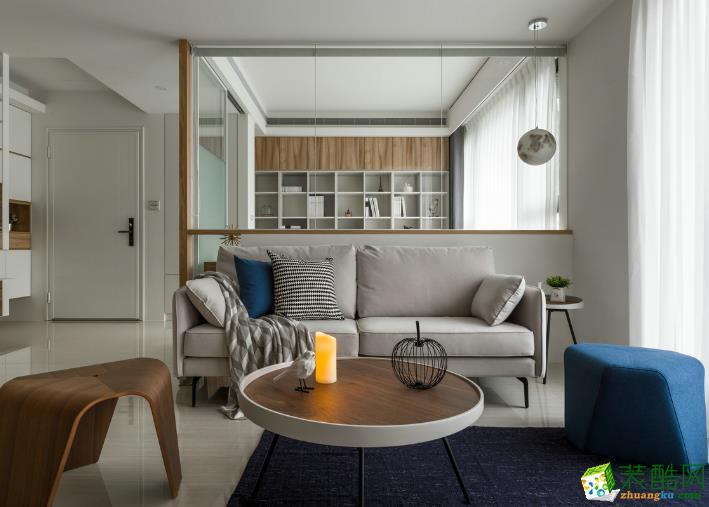 济南华翔装饰-95平米现代简约两居室装修案例