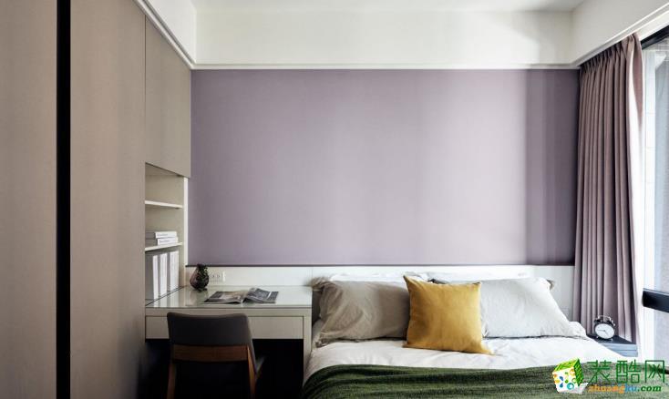 济南华翔装饰-115平米现代简约三居室装修案例