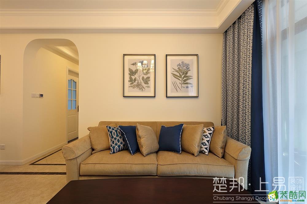 西溪海小海90方现代风格三室一厅装修设计效果图