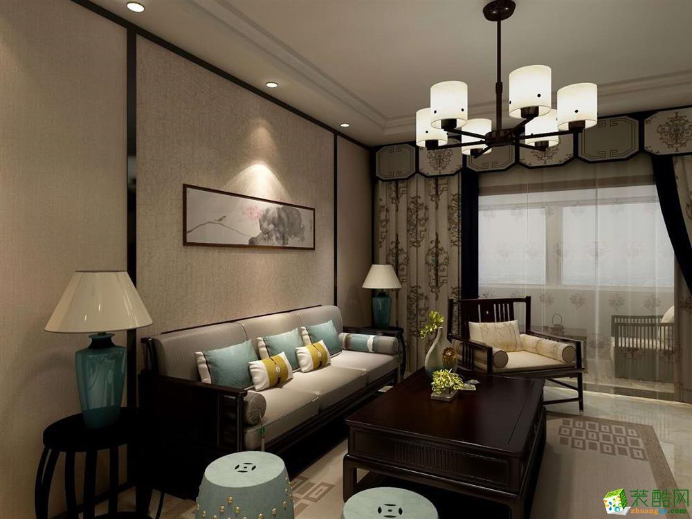 阳光花苑129平三室两厅两卫中式风格装修效果图
