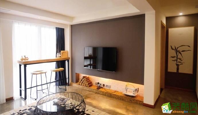 重庆两室两厅装修-现代风格85平米装修效果图-佳天下装饰