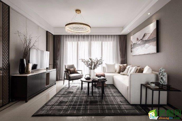 重慶兩室一廳裝修-85平米混搭風格裝修效果圖-佳天下裝飾