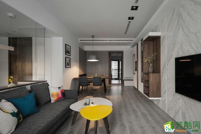 重慶三室一廳裝修-90平米現代風格裝修效果圖-佳天下裝飾