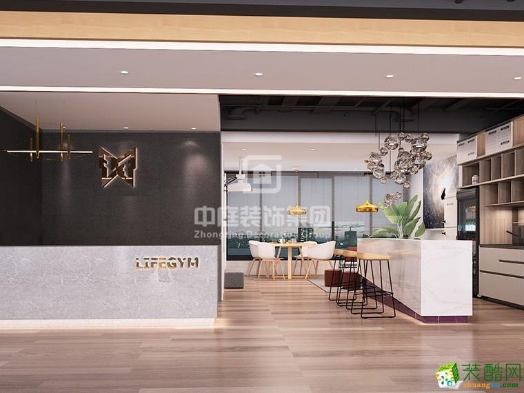 【南宁中庭装饰】德瑞大厦健身房 600平米 北欧
