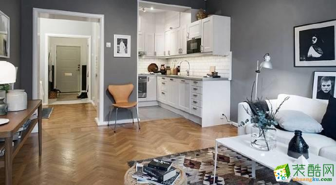 重慶兩室一廳裝修-60平米混搭風格裝修效果圖-佳天下裝飾