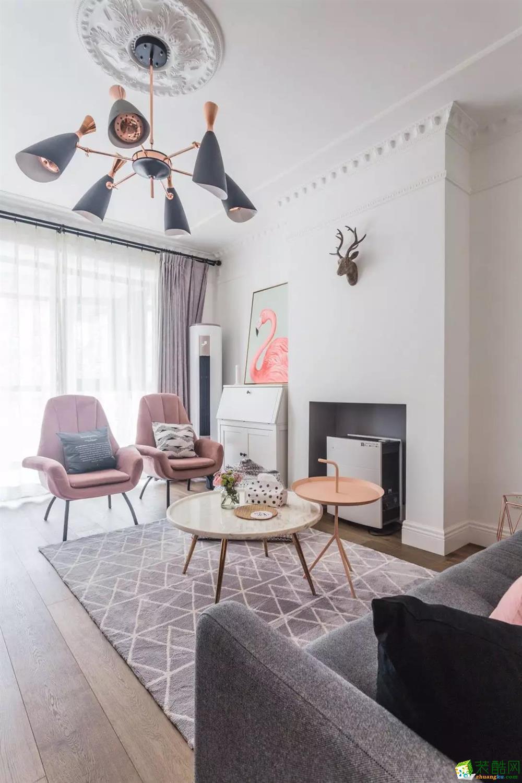 武汉80㎡两室一厅一卫现代风格装修设计效果图