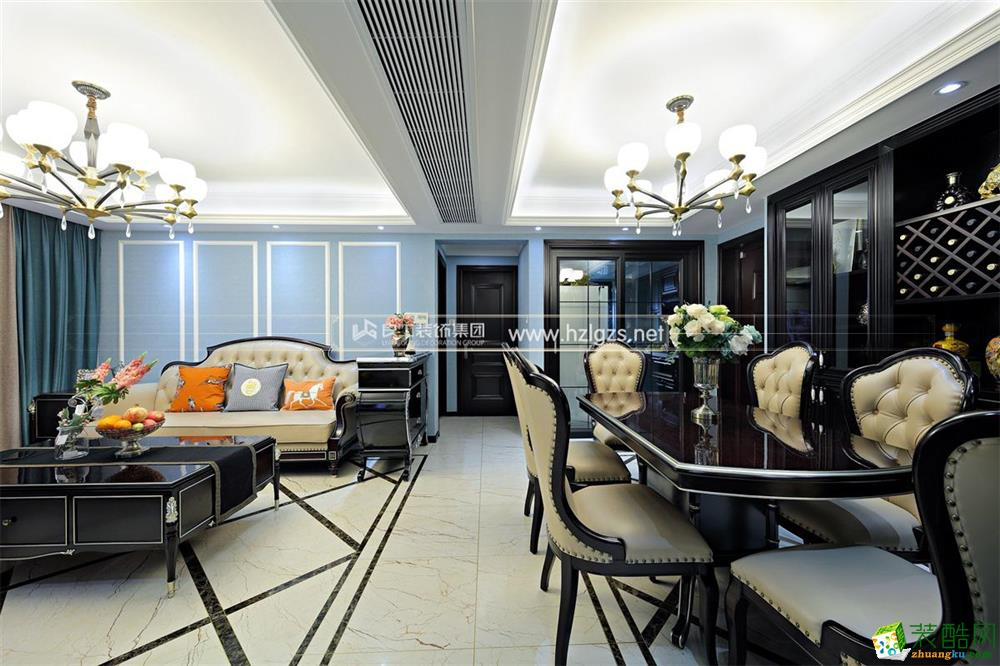 【良工装饰案例】婺江三园115方三室两厅简欧风格效果图