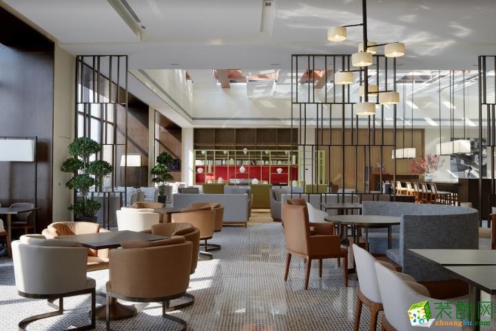 南宁餐厅装修—300平时尚生态餐厅装修设计效果图
