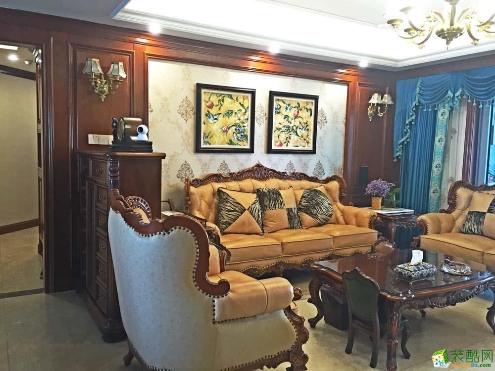 世纪江尚186方四室两厅古典美式风格装修设计效果图