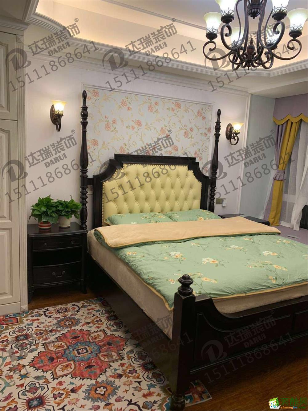 重庆三室两厅装修-康田漫城90平米田园风格装修效果图赏析-达瑞装饰