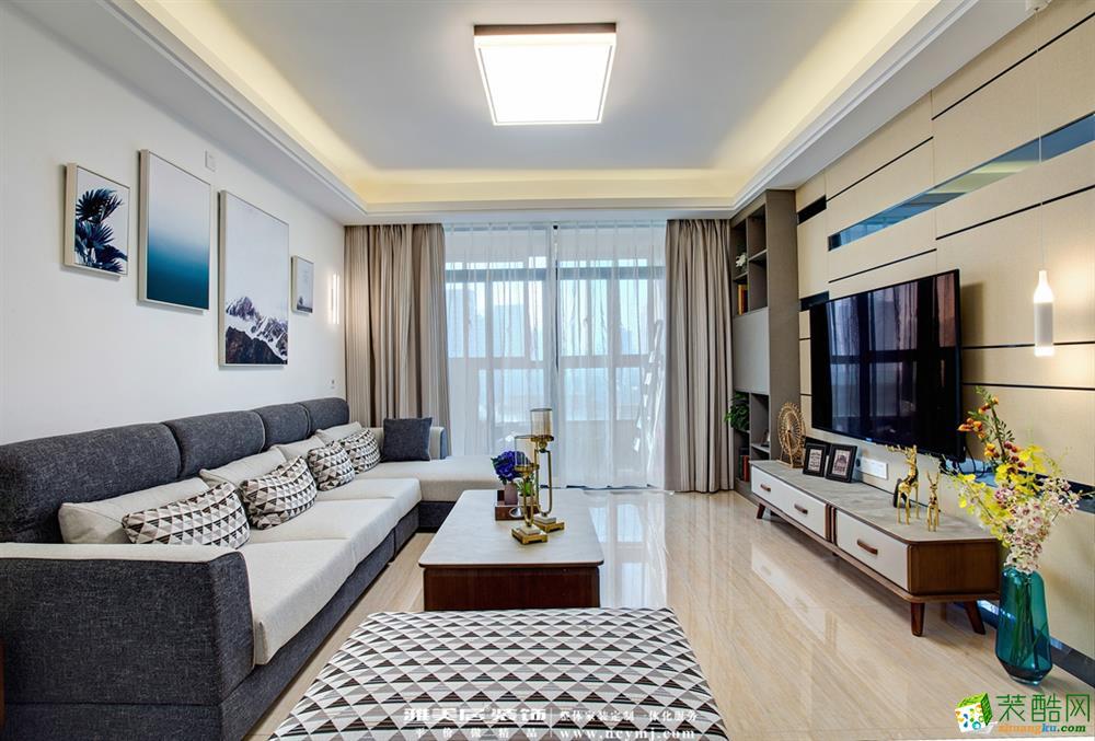 90平米9.8万装修两室一厅北欧风格装修效果图