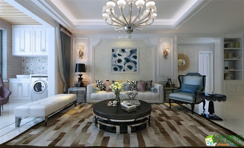 杨春湖畔146�O三室两厅两卫简欧风格装修设计效果图