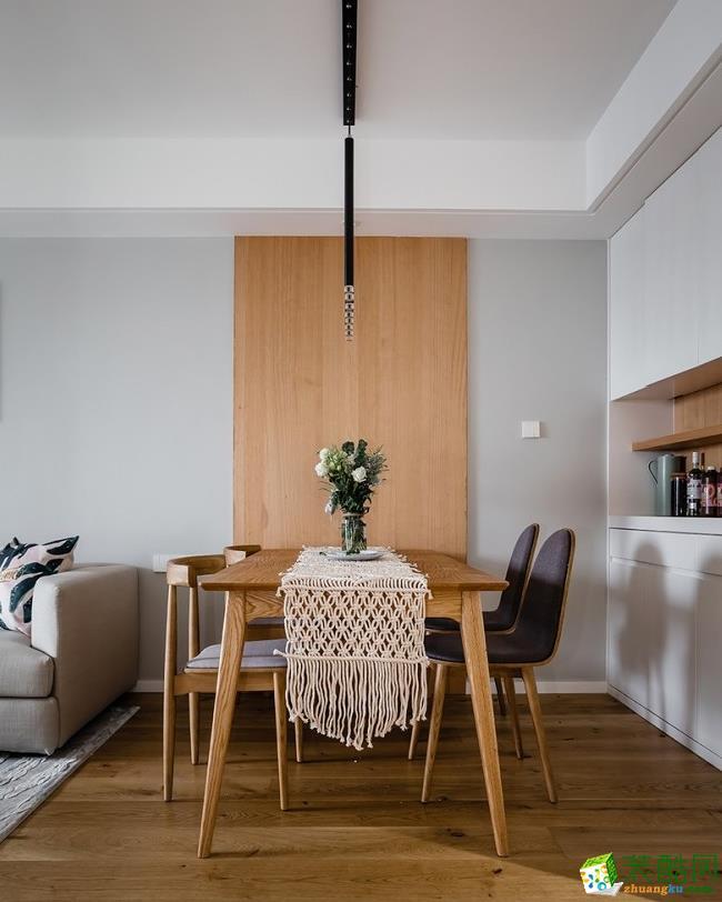 餐厅  昆明110平3室2厅简约风格装修案例图-大美装饰