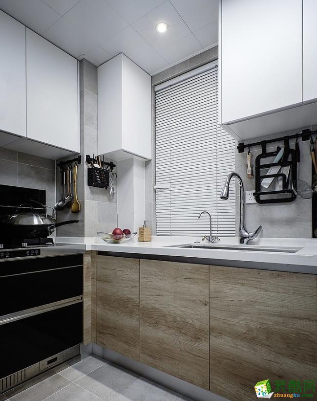 厨房  昆明110平3室2厅简约风格装修案例图-大美装饰