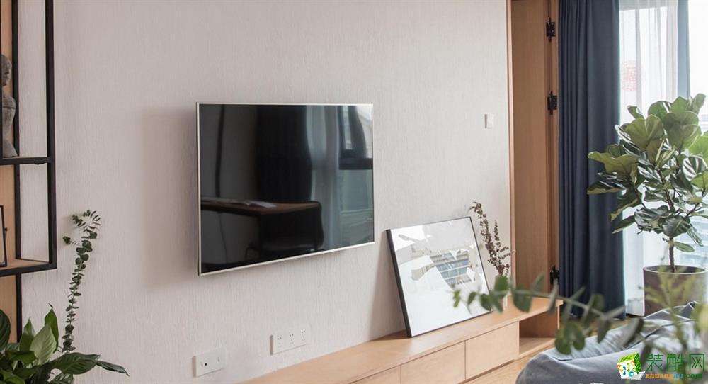 客厅  昆明110平3室2厅简约风格装修案例图-大美装饰