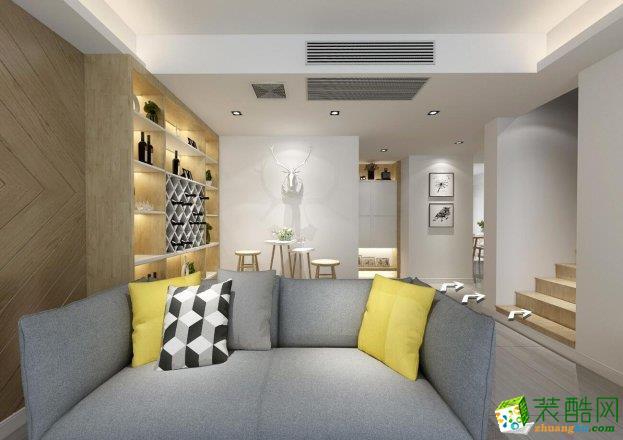 四居室-北欧风格装修案例效果图