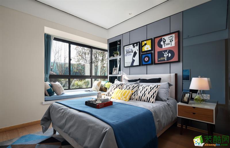 >> 合肥109㎡三室一厅一卫北欧风格装修设计效果图图片