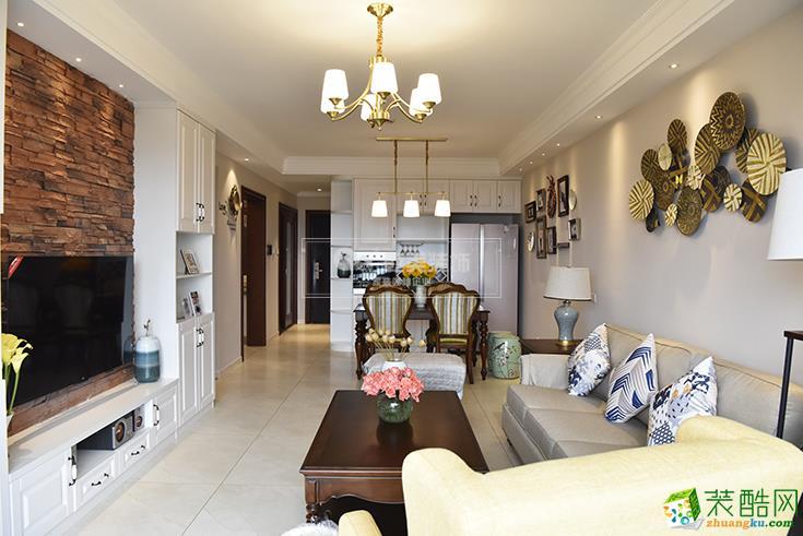 昆明金科陽光里104平3室2廳裝修案例圖-乾美裝飾