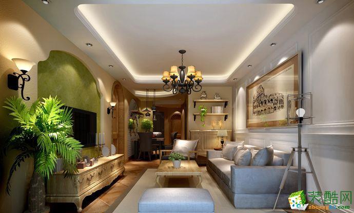 三居室-美式风格装修案例效果图