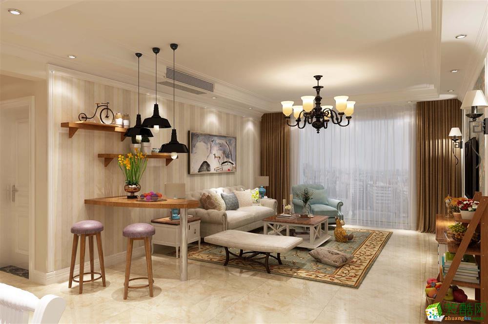 贵阳保利溪湖104�O12.2万美式风格装修-丰立装饰案例