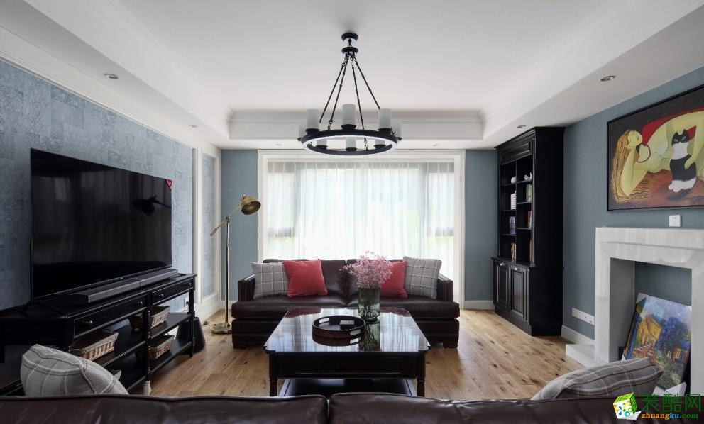 昆明320平別墅美式風格裝修案例圖-金芒果裝飾