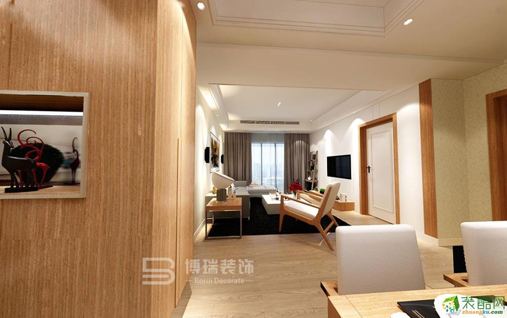 联合・畔上居89方现代风格两室一厅一卫装修设计效果图